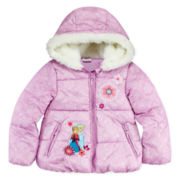 Disney Collection Frozen Puffer Jacket - Girls 2-10