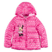 Disney Collection Minnie Mouse Puffer Jacket - Girls 2-10