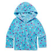 Okie Dokie® Pull-On Fleece Hoodie - Toddler Girls 2t-5t