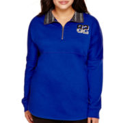 City Streets® Long-Sleeve Front-Zip Pullover - Juniors Plus