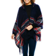 Mixit™ Bouclé Border Hooded Wrap