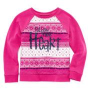 Arizona Quilted Sweatshirt - Preschool Girls 4-6x