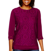 Stylus™ 3/4-Sleeve Laced Top