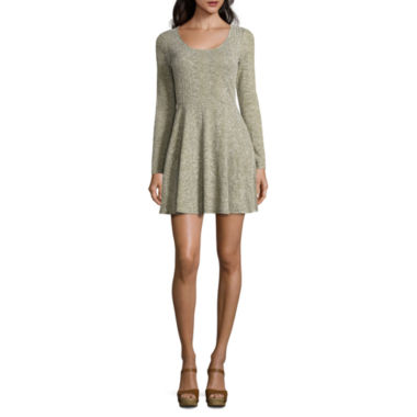 jcpenney.com | Love And Let Love Long Sleeve A-Line Dress-Juniors