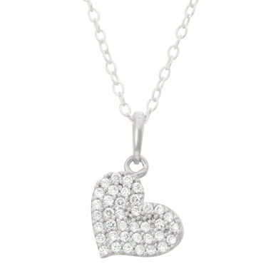 jcpenney.com | Children's Sterling Silver Heart Pendant Necklace