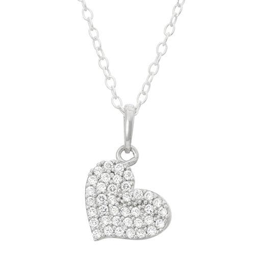 Children's Sterling Silver Heart Pendant Necklace