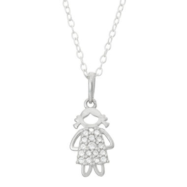 jcpenney.com | Children's Sterling Silver Girl Pendant Necklace