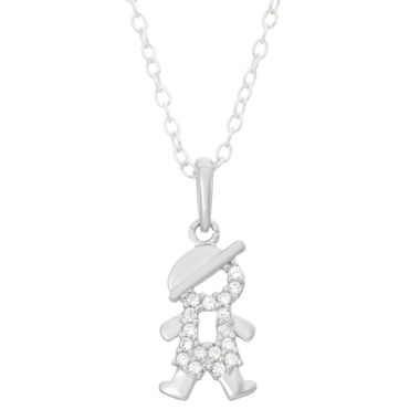 jcpenney.com | Children's Sterling Silver Open Boy Pendant Necklace