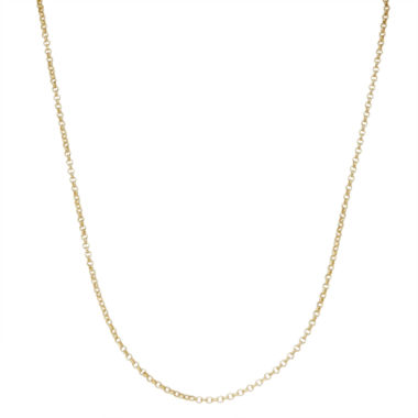 jcpenney.com | Children's 14K Yellow Gold over Silver Rolo Chain Necklace