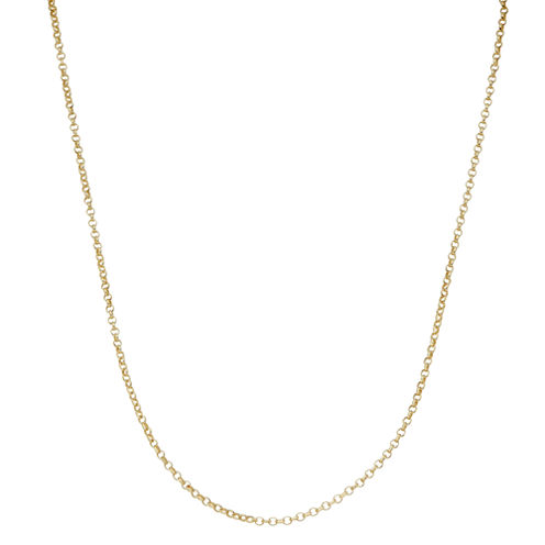 Children's 14K Yellow Gold over Silver Rolo Chain Necklace