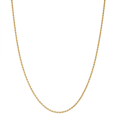jcpenney.com | Children's 14K Yellow Gold over Silver Rope Chain Necklace