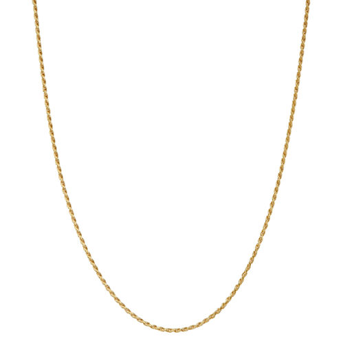 Children's 14K Yellow Gold over Silver Rope Chain Necklace