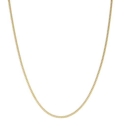 Children's 14K Yellow Gold over Silver Curb Chain Necklace