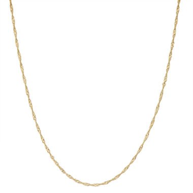 jcpenney.com | Gold Over Silver 15 Inch Chain Necklace