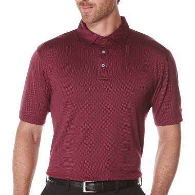 jcpenney.com | PGA Tour Short Sleeve Jacquard Mesh Polo Shirt