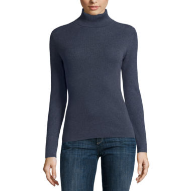 jcpenney.com | Liz Claiborne Long Sleeve Turtleneck Pullover Sweater
