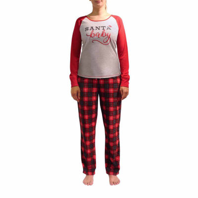 Holiday #Famjams 2-pc. Pattern Pant Pajama Set- Women's