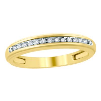Womens Diamond Accent Genuine Diamond 10K Gold Wedding Band
