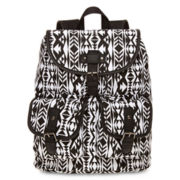 Olsenboye® Tribal-Print Glitter-Trim Backpack