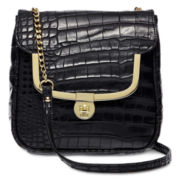 Lulu by Lulu Guinness® Legacy Frame Croco-Embossed Mini Crossbody Bag
