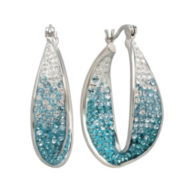 jcpenney.com | Sterling Silver Crystal Hoop Earring