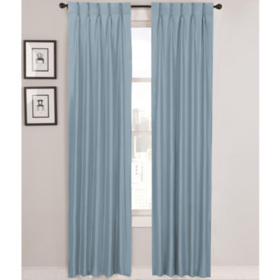 CLOSEOUT! Supreme Palace Antique Satin Pinch-Pleat Lined Curtain Panel Pair