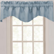 CLOSEOUT! Supreme Palace Antique Satin Rod-Pocket Scalloped Valance