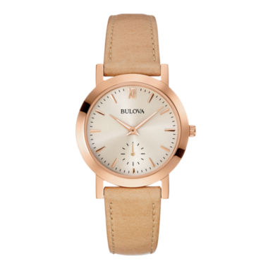 jcpenney.com | Bulova® Womens Brown Leather Strap Watch 97L146
