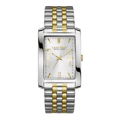 jcpenney.com | Caravelle New York® Mens Two-Tone Stainless Steel Watch 45A123