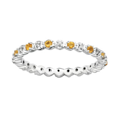 jcpenney.com | Personally Stackable Genuine Citrine & Diamond-Accent Eternity Ring