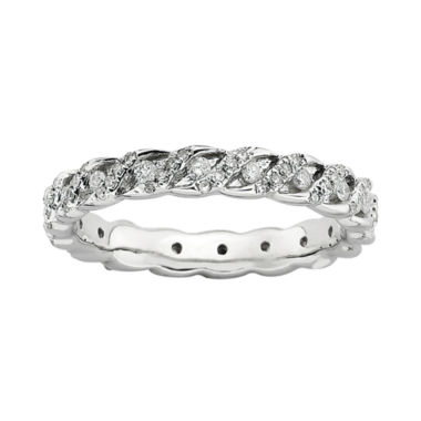 jcpenney.com | Personally Stackable 3/4 CT. T.W. Diamond Sterling Silver Swirl Ring