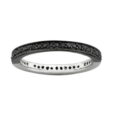 jcpenney.com | Personally Stackable 1/3 CT. T.W. White and Color-Enhanced Black Diamond Ring