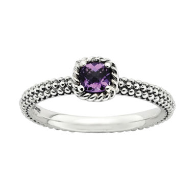 jcpenney.com | Personally Stackable Checker-Cut Genuine Amethyst Ring