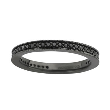 jcpenney.com | Personally Stackable Color-Enhanced Black Diamond Eternity Ring
