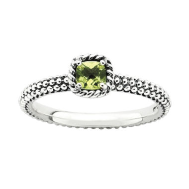 jcpenney.com | Personally Stackable Checker-Cut Genuine Peridot Ring
