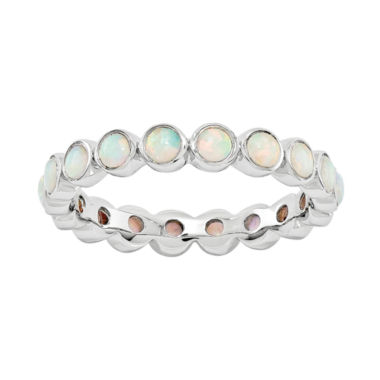 jcpenney.com | Personally Stackable Lab-Created Opal Eternity Ring