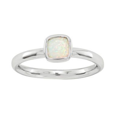 jcpenney.com | Personally Stackable Lab-Created Cushion-Cut Opal Ring