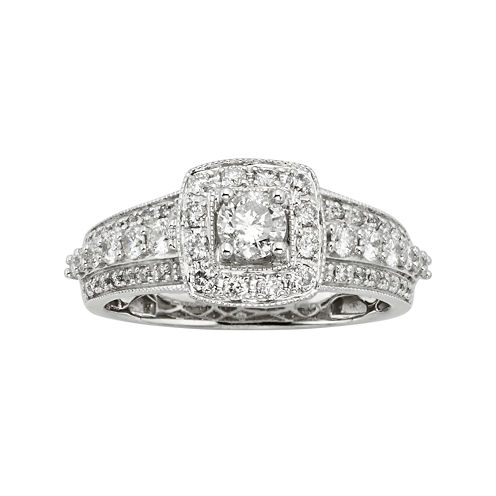 1 CT. T.W. Certified Diamond 14K White Gold Bridal Ring