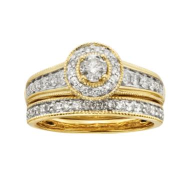 Certified Diamonds 14K Yellow Gold Diamond Bridal Sets