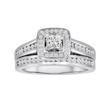 jcpenney.com | 1 CT. T.W. Certified Diamond 14K White Gold Bridal Ring Set