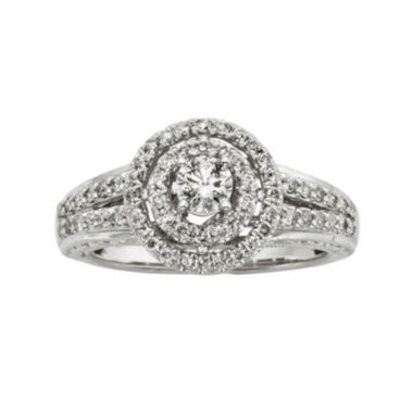 jcpenney.com | 3/4 CT. T.W. Certified Diamond 14K White Gold Vintage-Style Twist Bridal Ring