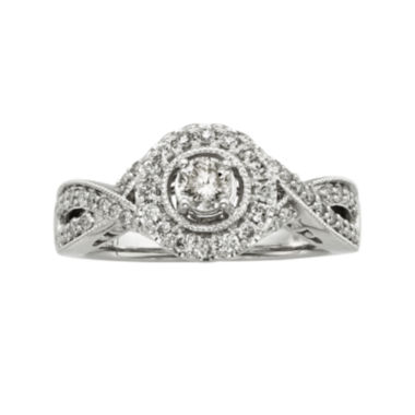 jcpenney.com | 3/4 CT. T.W. Certified Diamond 14K White Gold Vintage-Style Bridal Ring