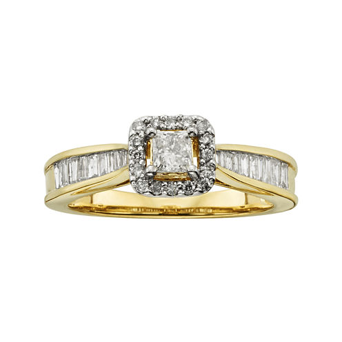 3/4 CT. T.W. Certified Diamond 10K Yellow Gold Bridal Ring