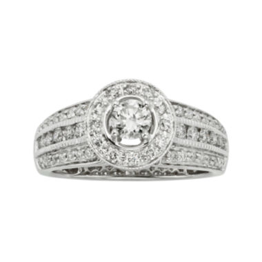 jcpenney.com | 1 CT. T.W. Certified Diamond 14K White Gold Vintage-Style Bridal Ring