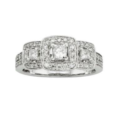 jcpenney.com | 1 CT. T.W. Certified Diamond 14K White Gold 3-Stone Bridal Ring