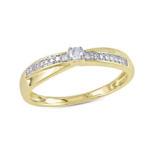 Diamond-Accent 10K Yellow Gold Promise Ring