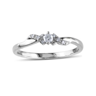 jcpenney.com | 1/10 CT. T.W. Diamond 10K White Gold Bypass Bridal Ring