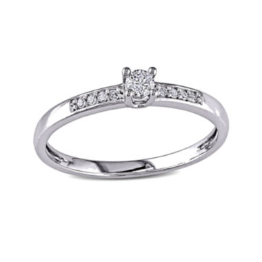 jcpenney.com | 1/7 CT. T.W. Diamond 10K White Gold Promise Ring