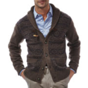 Haggar® Fair Isle Toggle Cardigan Sweater