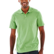 St. John's Bay® Short-Sleeve Solid Jersey Polo